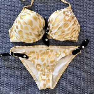 Victoria's Secret leopard gold bikini set